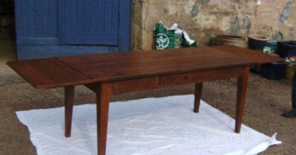 Cette Véritable Table De Ferme Ancienne Est En Chêne Elle