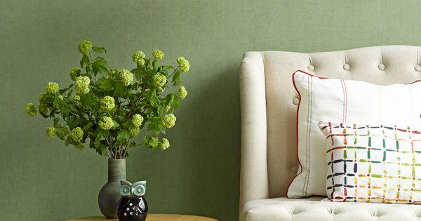 Behang 50 shades of colour groen bn wallcoverings huismus pinterest groen slaapkamer - Interieurontwerp thuis kleur ...