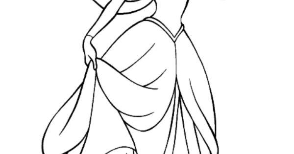 Princesas Disney Más Dibujos Para Colorear De Jasmine: Dibujos De La Princesa Ariel Para Colorear