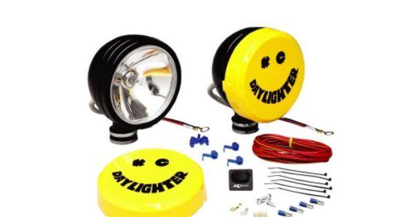 Kc Hilites 233 Daylighter Black 100w Spot Beam Light System Diy Wiring Harness Classic Kc Daylighter 6 Black Powder Coated Lighting System Beams Light Covers