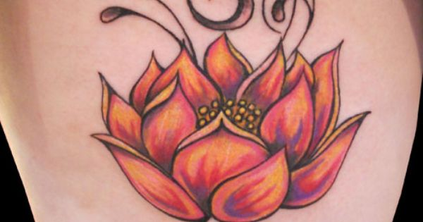 The lotus flower symbolizes purity spiritual awakening for Revival tattoo and piercing