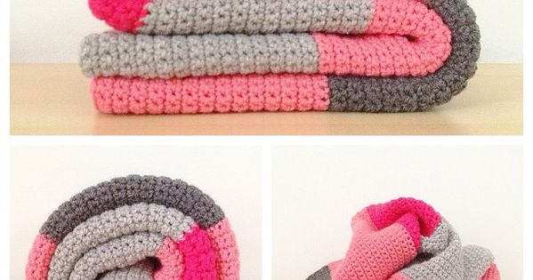 I adore this crochet blanket color palette! The grays make each bright