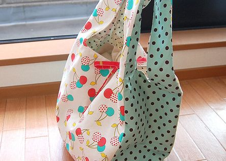Make your own grocery bags... way cuter than the cheap-o ones in