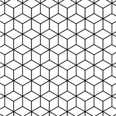 Geometric Tessellation With Rhombus Pattern Coloring Page Geometric Coloring Pages Geometric Pattern Design Geometric Patterns Drawing