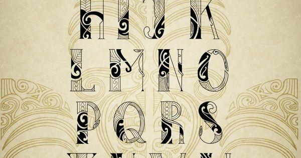 Epic Maori Tattoo Font