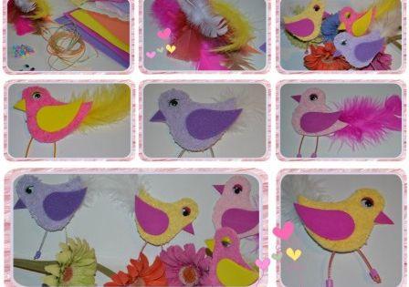 bricolage printemps oiseaux avec gabarit activit s manuelles loisirs creatifs enfant nature. Black Bedroom Furniture Sets. Home Design Ideas