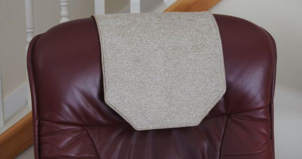 Recliner Chair Headrest Cover Beige Amp Cream By Chairflair