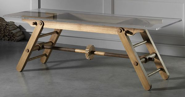 "Height adjustable table. "" my instinct would be to get down on all fours and crank that large ..."