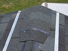 Do It Yourself Roofing Ridge Cap Shingles And Top Row Layout Details Roof Problems Ridge Cap Roofing