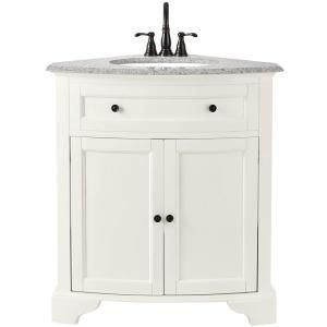 Home Decorators Collection Hamilton 31 In W Corner Bath Vanity In Sea Glass With Granite Vanity Top In Grey And White Sink 10809 Cs30h Sg Corner Bathroom Vanity Bathroom Vanity Tops Granite Vanity Tops