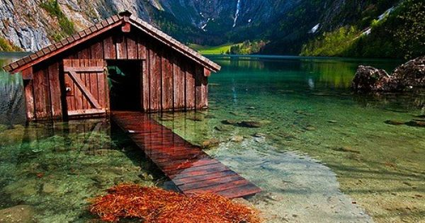 Boat House, Lake Obersee, Berchtesgaden National Park, Germany