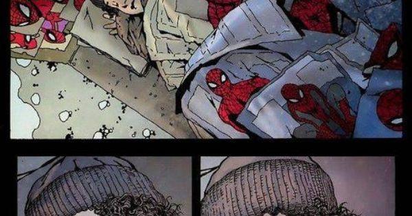 Sad spiderman comic strip