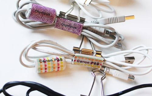 {five minute friday} Organizing Cords & Cables
