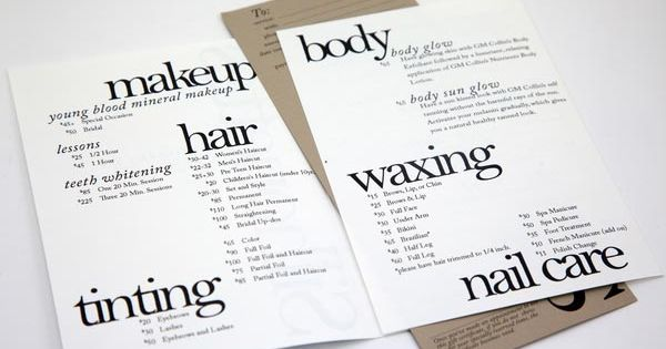 Salon Gift Card Samples | 20 Stylish Examples of Salon Brochure Designs