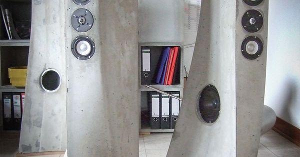Best Lautsprechergeh use aus Beton von Christoph Pesch http pesch concrete de concrete furniture Pinterest
