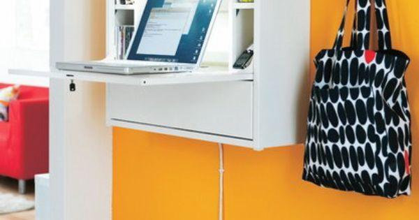 ikea fold-down desk   Small Space Interior Design ...