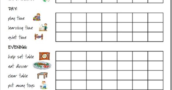 Responsibility Chart Chore Chart...For the boys