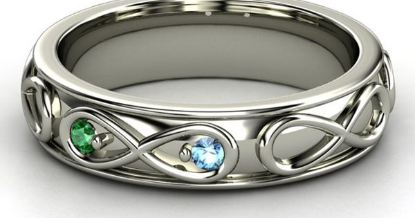 The Infinite Love ring w birthstones.