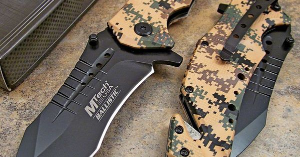 Mtech Tan Digital Desert Camo Tactical Rescue Spring Assisted Open Pocket Knife Desert Camo