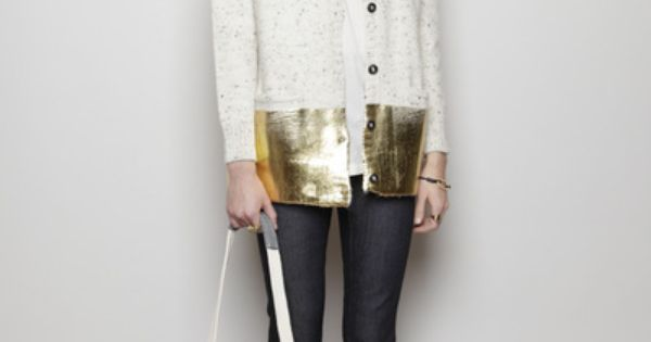 Rachel Comey gold dipped cardi