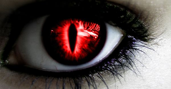 Black Sclera Red Iris Contacts Evil Anime Girl Eyes |...