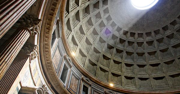 Pantheon, Rome, Italy. (MoA) It really is a beautiful building. The skylight
