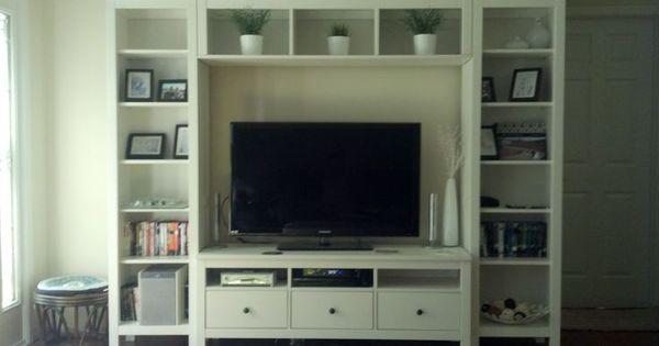 Ikea Hemnes entertainment center | Living Room | Pinterest ...