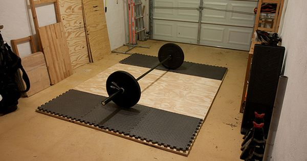Instructions for building a home platform crossfit