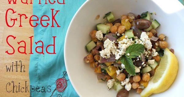 Greek salad, Chickpeas and Salads on Pinterest