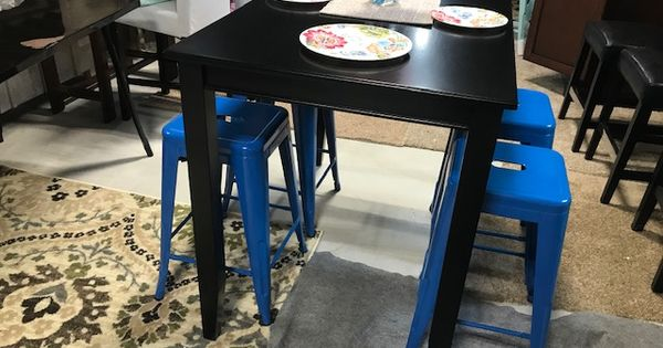 East West Furniture Counter Height Rectangular Table Black And Urbanmod 24 Inch Bar Stools For Kitchen Rectangular Table 24 Inch Bar Stools Kitchen Bar Stools
