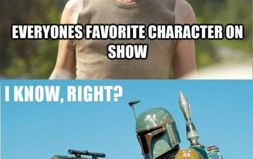 Everyone's favorite character (plus click for more funny Walking Dead memes)