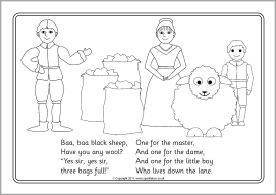 Baa Baa Black Sheep Colouring Sheets Sb4240 Sparklebox Baa
