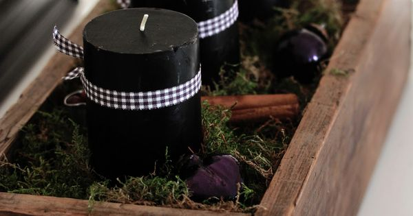 Boxed advent wreath