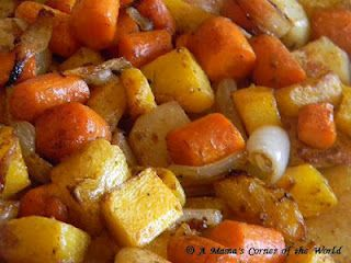 Oven Roasted Potatoes Rutabaga Carrots And Butternut Squash With