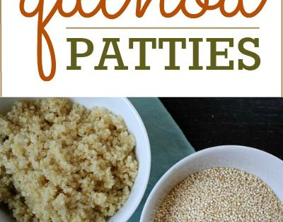 Quinoa Patties: One of the best vegetarian meals. Can be modified for