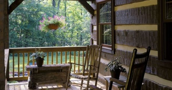 Cabin porch charlottesville virginia best travel for Portico anteriore a trave aperta