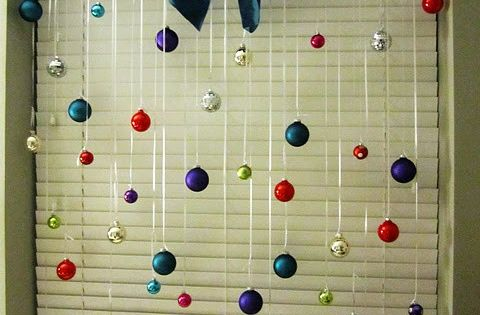 Christmas window decor. Cute idea for my hugeeee front window. I think