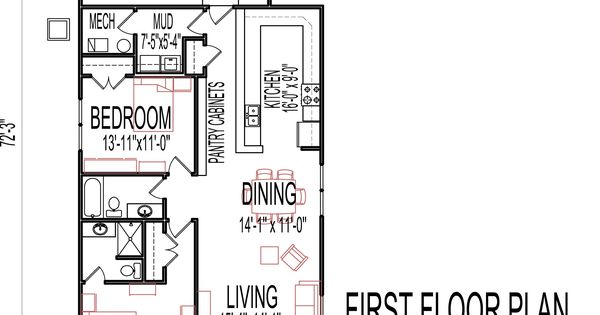 Small low cost economical 2 bedroom 2 bath 1200 sq ft for 28x28 cabin plans