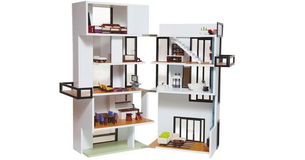 Modern Model Bennett House | AHAlife True-to-life Model Dollhouse. Inspired by Gerrit
