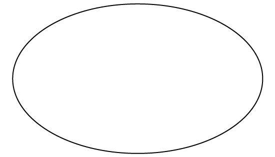 Oval Pattern. Use The Printable Outline For Crafts
