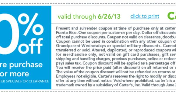Pinned May 31st 20 Off 40 At Carters Coupon Via The Coupons App Carters Coupon Printable Coupons Clothing Coupons