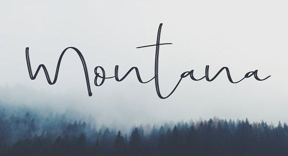 Montana Font – It's hand written dry brush script and roughen script
