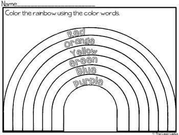 48++ Rainbow to colour in worksheet Live