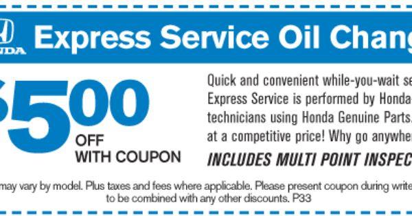 5 Off Express Service Oil Change At Milton Martin Honda Http Www Miltonmartinhonda Com Service Honda Service New Honda Oil Change