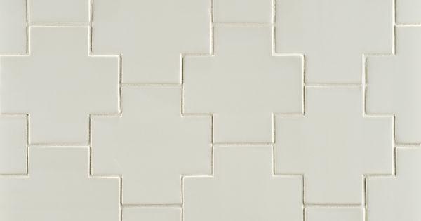 Ann Sacks Gotham 4 Quot X 4 Quot Swiss Cross Ceramic Field In