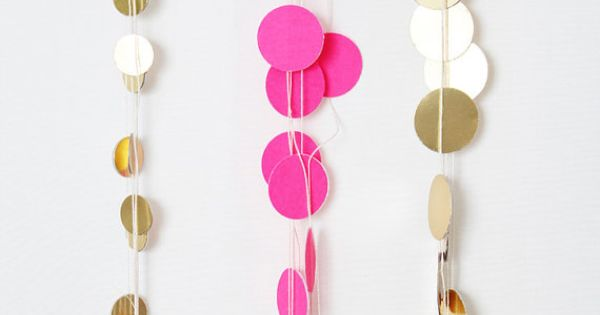 Gold dot mini garland by niceparty on etsy for Gold dot garland
