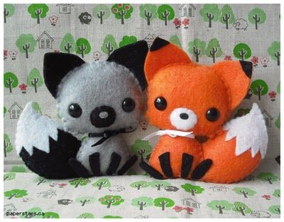 Fox felt plushies (by Paper Forest) Must make tooo cute!!!!! But I'm