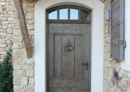 Porte pleine avec patine porte de 95x240cms portes d for Porte de cour