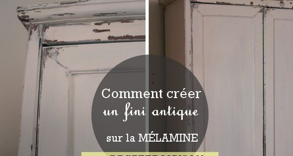 Mode d 39 emploi pour restaurer un meuble en m lamine peinture vernis teinture recette - Revamper armoire melamine ...