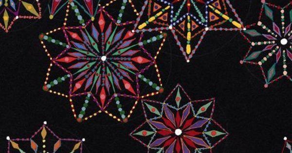 mosaic made from PILLS~ artist Fred Tomaselli art mosaic mixed_media